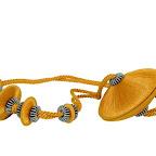 Nowoczesna obejma dekoracyjna do zasłon i tkanin z magnesem. Pomarańczowa.