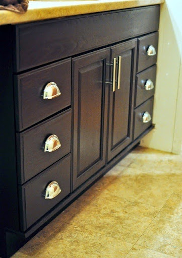 The best tutorial on how to transform honey oak cabinets to dark espresso  cabinets. Easy