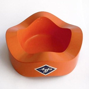 Helit Sinus ashtray, orange