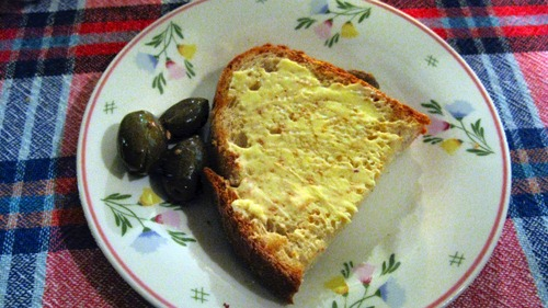 Toast and olives