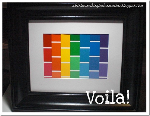 Framed linear rainbow