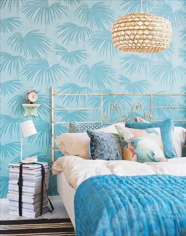 Quarto com decorao na cor azul