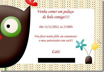 convite Lalá face