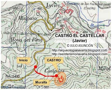 Mapa ruta El Castellar de Javier