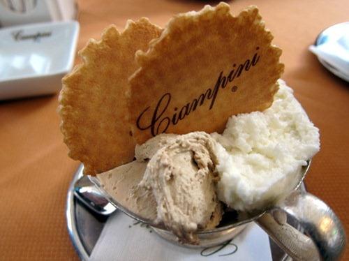 Hazelnut, Pistachio, Coconut gelato