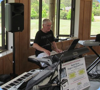 Gordon Sutherland playing his Korg Pa3X. Photo courtesy of Dave Winslade
