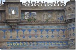 gwalior 053 palais Man Singh fresques extérieures