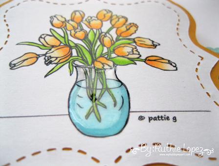 Patties Creations - Tulips vase - Ruthie Lopez - Charmeleon 3