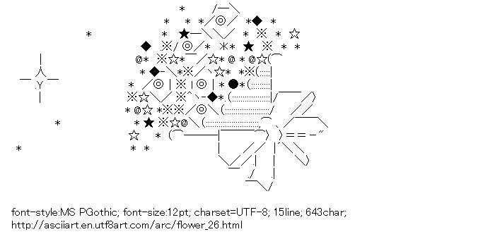 Line Art Ascii : Ascii line art flower wroc awski informator internetowy