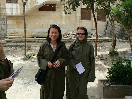 Vestminte pentru turiste - moschee Damasc