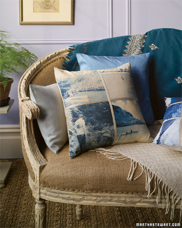 It's a snap to turn your favorite photographs into original home accents for Mom like this gorgeous pillow. (marthastewart.com)
