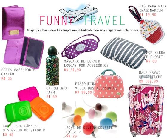 O que levar para viagem Dicas de acessórios divertidos para sua bagagem