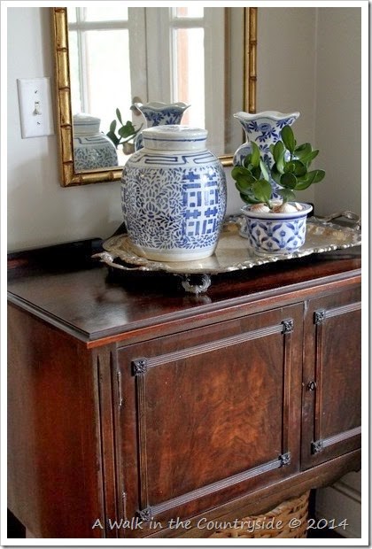 small sideboard in foyer