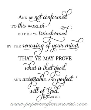 Romans 12:2 WORDart by Karen personal use
