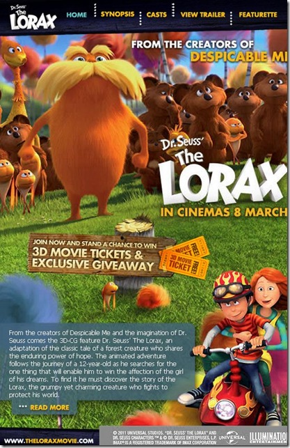 Tiket Free The LORAX