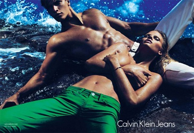 Mathew Terry + Lara Stone by Mert & Marcus for Calvin Klein Jeans, S/S 2012.