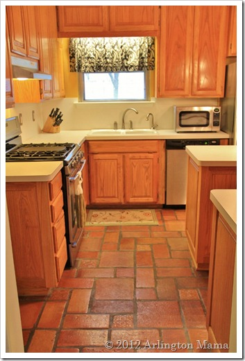 """Staging Stainless Steel Appliances"", ""painting white vent hood stainless"", ""sanding metal"", ""kitchen staging"", ""saltillo tile"""