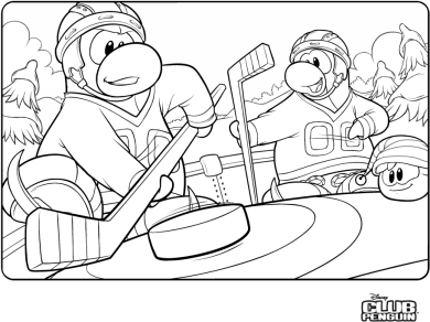 Penguins coloring pages hockey - photo#18