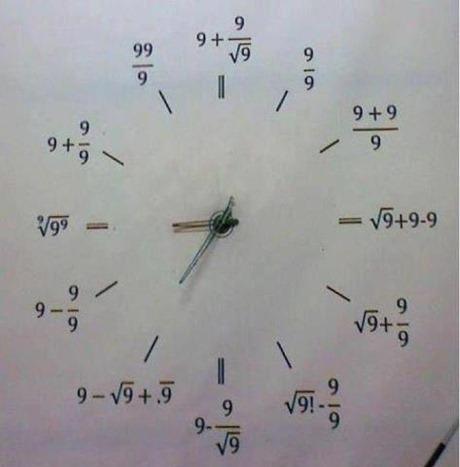 relógio matemático