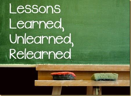 LessonsLearnedUnlearnedRelearned