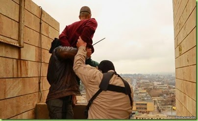 islamist throwing gay man off building