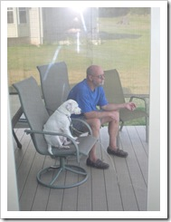Randy & Bolt hanging out on the deck