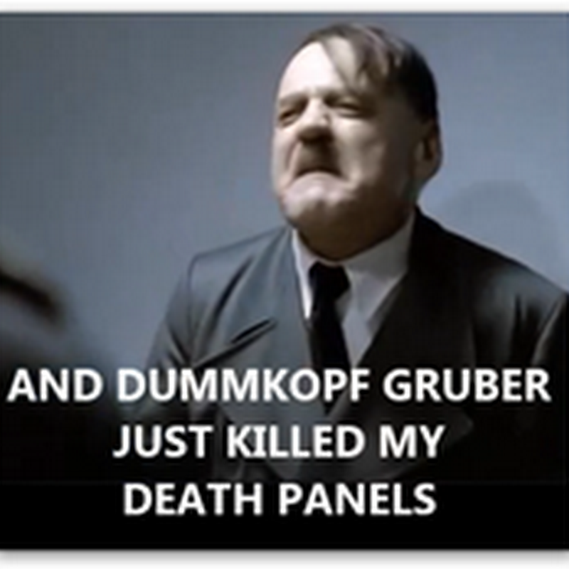 Hitler Finds Out It Was Gruber Who Spilled the Beans On Obamacare (video-humor)