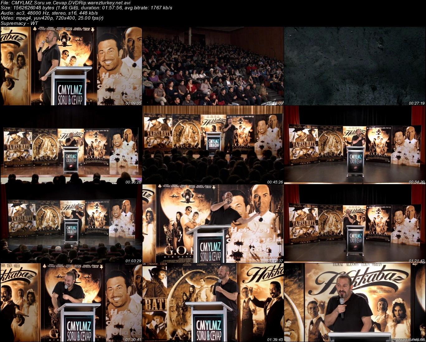 Cem Yılmaz - Soru & Cevap 2010 Dvdrip + Kamera Arkası Tek Link indir