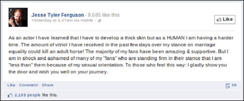 Jesse Tyler Ferguson desabafo