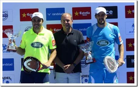 """""""Los Reyes"""" Martin Diaz y Belasteguin conquistan en Cáceres su tercer título WPT 2013."""