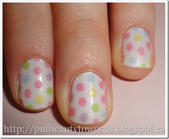 Writing Beauty: Incoco Nail Polish Strips in Sweet Spots (Review)