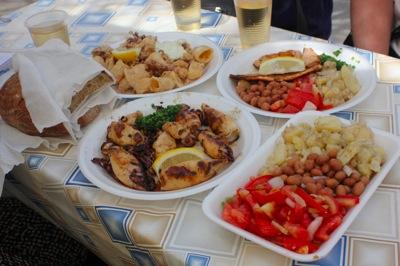 Ribarnica Ribice seafood lunch