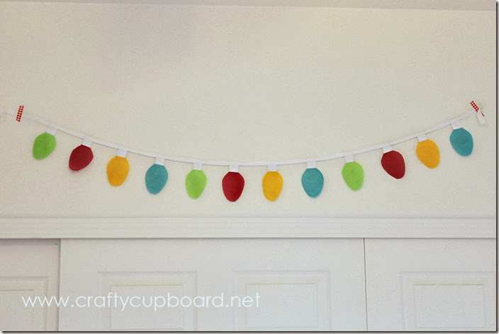 Felt Christmas Light Garland by the Crafty Cupboard with Tutorial