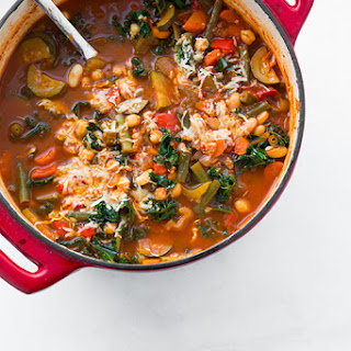Kale and Quinoa Minestrone {Vegan and Gluten Free}