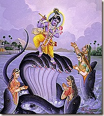 [Krishna dancing on Kaliya]