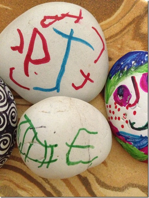 Indirect Observations: decorating rocks