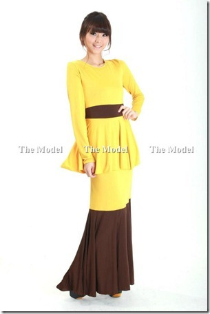 Firzara Collection::: Color Block Peplum Maxi Dress