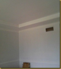 dining room tray ceiling and chair rail chopped