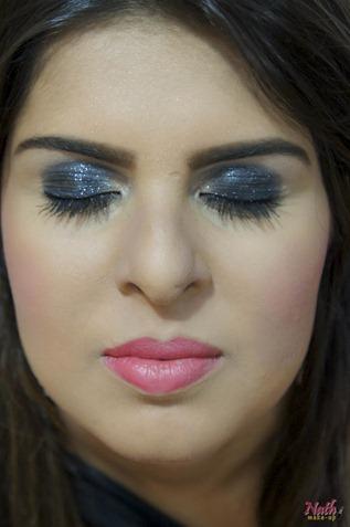 maquiagem usando reflects pearl da MAC