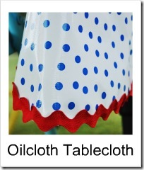 oilcloth tablecloth button