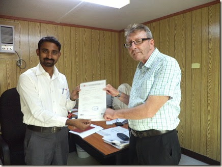 Senthil (TCR) & Keith Baldam( CAT - QC Manager)