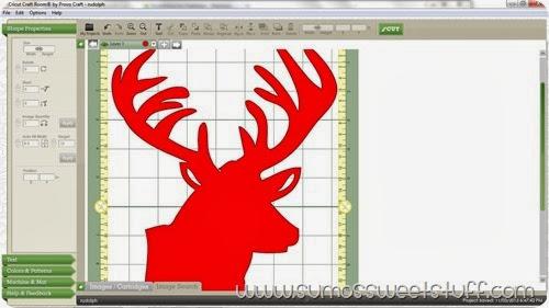 Glittered Rudolph at SumosSweetStuff.com #christmas #holiday #decoration