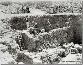 Bethel excavation, 1954, house from Judges period, mat13006