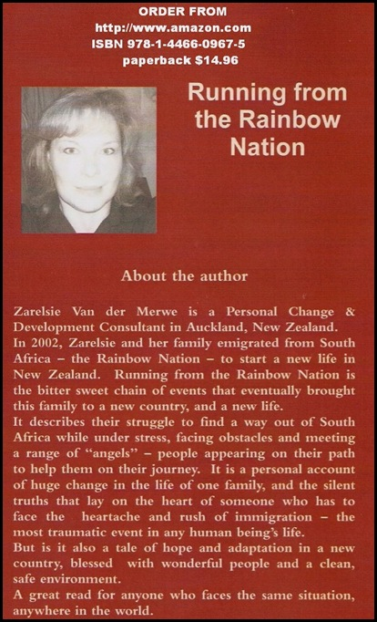 VAN DER MERWE SARELSIE RUNNING FROM THE RAINBOW NATION AMAZON BOOK