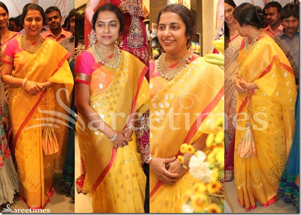 Suhasini_Yellow_Designer_Saree