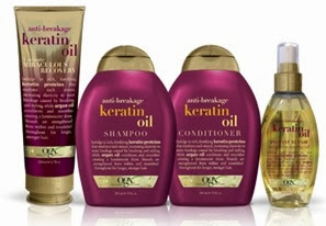 organix keratin oil hair care