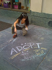Oooh! I simply love sidewalk chalk! And what a great way to spread the message about adoption!