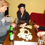 playing rummikub in seefeld in Seefeld, Tirol, Austria