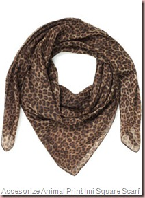 Accesorize Animal Print Imi Square Scarf