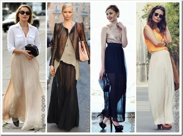 Cómo llevar falda larga 01 Bloggers